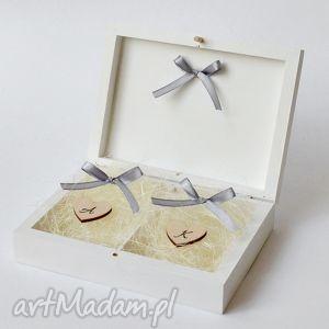 pudełko na obrączki ślubne, pudełka obrączki, z wiekiem