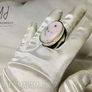 srebro 925 pierścionek z kamieniem opal rękodzieło unikat, opal