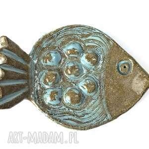 "Mydelniczka ""blue fish"" ceramika ceramystiq studio handmade"
