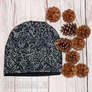 handmade czapki czapka dziecięca - młodzieżowa we wzorki