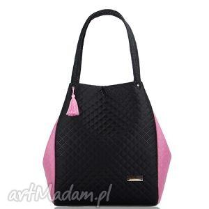pod choinkę prezent, torebka pikowana simple 214, torba, duża, pikowana, uszyta na