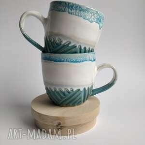 ceramika zestaw dwóch kubków 2, kubek do herbaty, ceramiczny