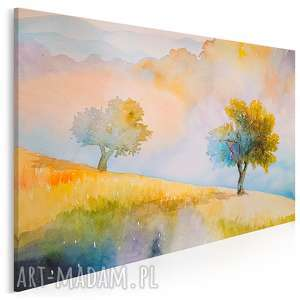 obraz na płótnie - jesień sad drzewa pejzaż 120x80 cm (87901)