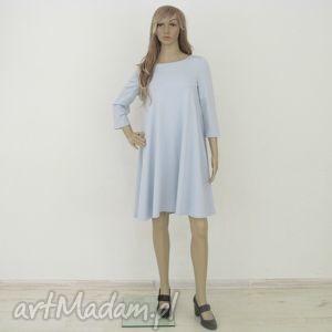 sukienki 7 - sukienka błękitna, sukienka, sukienki, rozkloszowana, trapez, mini