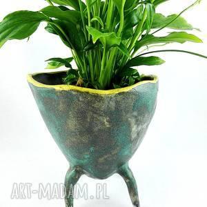 Prezent Doniczka ceramiczna, doniczka, prezent, kwiaty, ceramika, dekoracje, kaktus