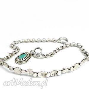 Bransoletka z turkusem, bransoletka, srebrna, 925, turkus, delikatna, minimalistyczna