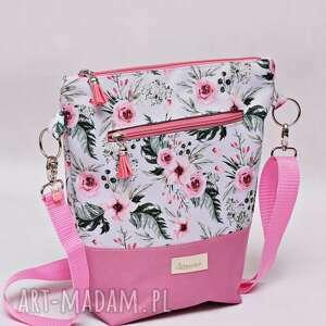 ręcznie robione na ramię torebka listonoszka wodoodporna, torba ramię, mała przez kwiaty