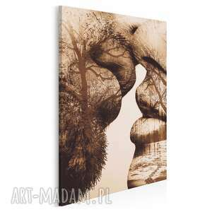obraz na płótnie - pocałunek drzewa w pionie 50x70 cm 29506