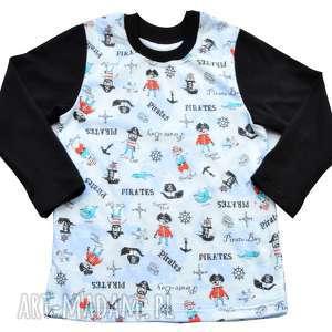 piraci marynarska bluzka z długim rękawem dla chłopca, bawełna, rozmiary 68-122