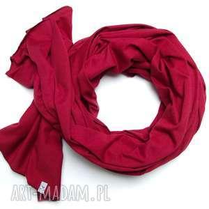Prezent Bordowy SZAL szalik chusta 100% cotton handmade , pomysł na