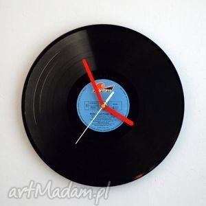 hand made zegary zegar vinyl clock