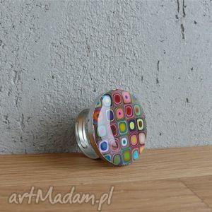 Pierścionek z geometrycznym wzorem foffaa pierścionki