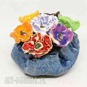 flower box kwiaty ceramiczne donica piękny duży wyjątkowy komplet handmade