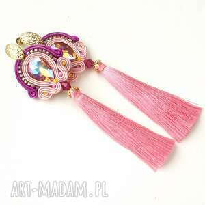 kolczyki sutasz rosaline, sutasz, oryginalne, długie, cyrkonie, błyszczące biżuteria