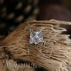 sowa mini broszka ze srebra (broszka sowa, przypinka ze srebra, biżuteria ze)
