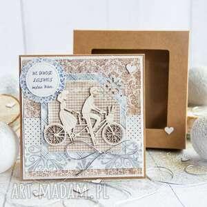 kartki pamiątka ślubu kartka miłosna w pudełeczku personalizowana treść