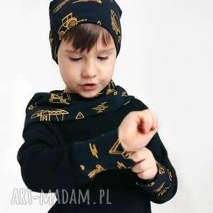 bluza dla dziecka z komino-kapturem pojazdy 80/86, 92/98, 104/110