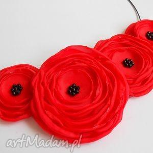 handmade prezenty święta kwiatowy naszyjnik