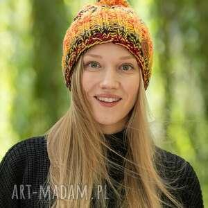 fun jesień czapka, zimowa, wełniana, wełna zima ręcznierobione