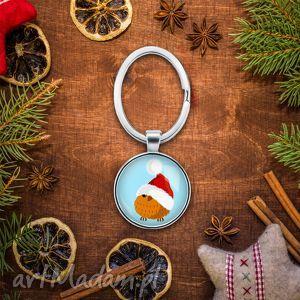 pomysł na upominek świąteczny Brelok do kluczy ŚWIATECZNY PTASZEK, ptak, święta