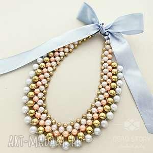świąteczny prezent, naszyjniki mira, kolia, perełki, korale, wesele, ślub, elegancki
