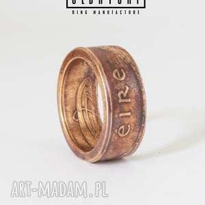 eire - celtycki pierscionek z irlandii - irlandia, brąz, sygnet, zaręczynowy, eire