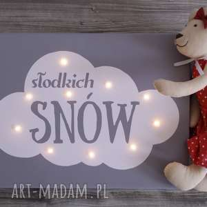 Prezent ŚWIECĄCY OBRAZ SŁODKICH SNÓW chmura prezent lampa dziecko dekoracja,