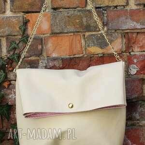 na ramię składak pastelove, torba, torebka, nude, łańcuszek, mana mana, wiosna