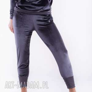 handmade spodnie aksamitne szare-bridget