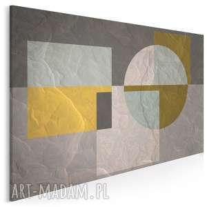 obraz na płótnie - abstrakcja geometria 120x80 cm 31701, kształty