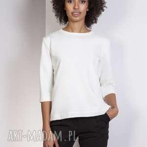 ręcznie wykonane bluzki luźna bluzka-frak, blu140 ecru