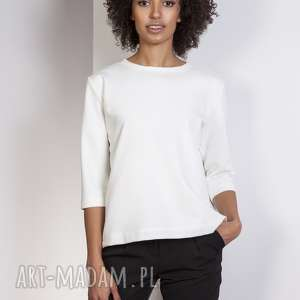 Luźna bluzka-frak, BLU140 ecru, bluzka, casual, frak, luźna, bluza, elegancka