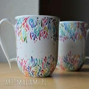 kubki ceramiczne ręcznie malowane multikolor, kubek, dla pary, dwojga