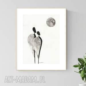 grafika 30x40 cm wykonana ręcznie, abstrakcja, obraz do salonu, 2920913