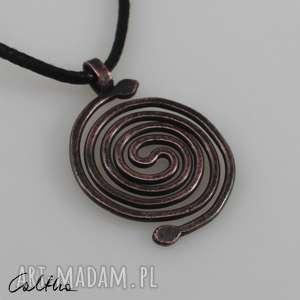 spirala - miedziany wisior 190422-02, wisior, wisiorek, zawieszka