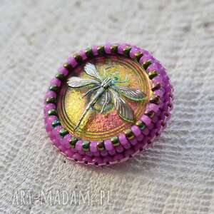 Made by Magda? shiny buttons::dragonfly