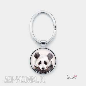 unikalny prezent, brelok do kluczy panda, zwierzak, bambus, puszysta