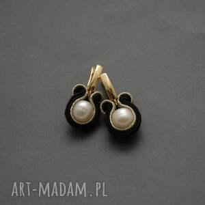 kolczyki sutasz z perłami, sznurek, wyjściowe, długie, eleganckie, perła