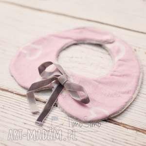 Kołnierzyk dla dziewczynki bawełniany Adelka (Różowo-białe serduszka), bawełna,