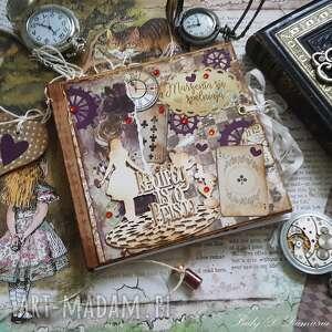 Sekretnik pamiętnik alicja w krainie czarów scrapbooking notesy