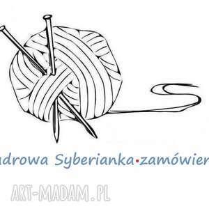 pudrowa syberianka - zamówienie, dziergana, pastelowa