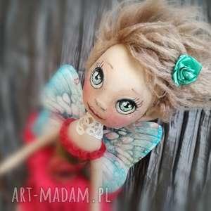 wrÓŻka dekoracja ścienna - figurka tekstylna ręcznie szyta i malowana