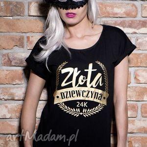 bluzki koszulka złota dziewczyna, prezent, urodziny, tshirt, modna, oryginalna