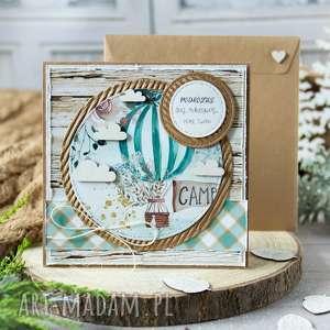 hand-made kartki kartka z podróżą w tle, twoją treścią
