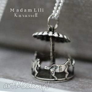 925 srebrny łańcuszek karuzela madamlili - wspomnienia, naszyjnik