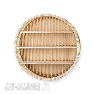 półka wiklinowa okrągła, wiklinowa, boho, natural, do salonu