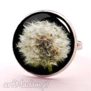 dmuchawiec - pierścionek regulowany egginegg, biżuteria, kwiatowy
