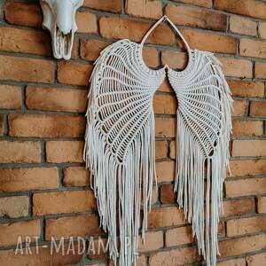 dekoracje skrzydła anioła xxl makrama ecru, anioła, dodatki ze sznurka