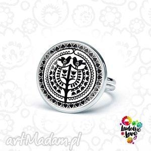 pierścionek kurpie, folk, folklor, polskie, wzory, ludowe, prezent, pod choinkę