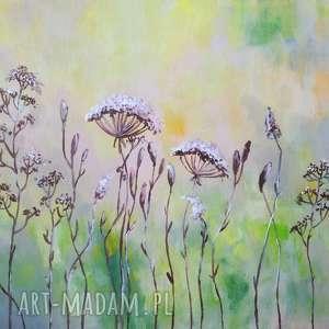 słoneczna łąka - obraz akrylowy formatu 40/30cm, łąka, akryl, lato, obraz, słońce